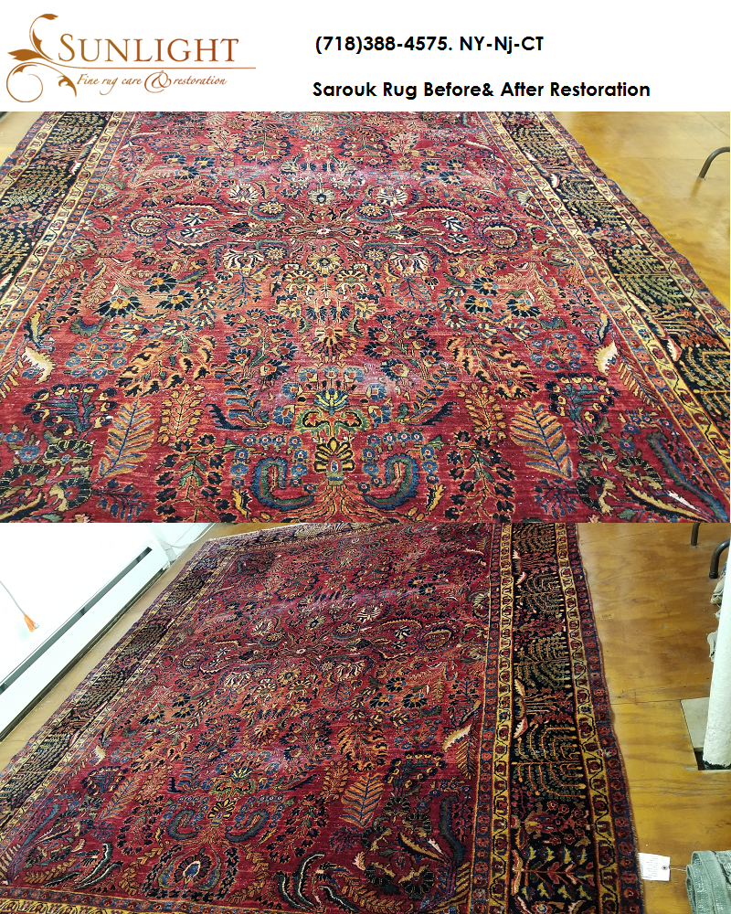 sarouk rug restoration